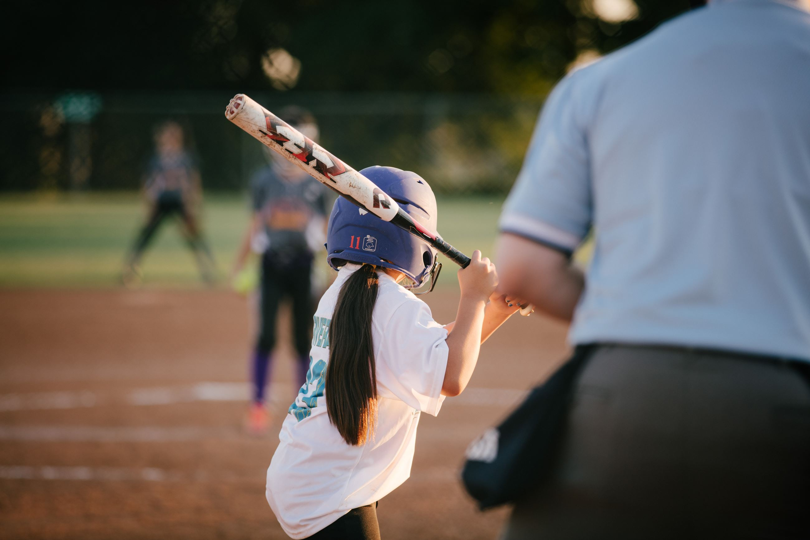Softball Player at Valley Ridge Park